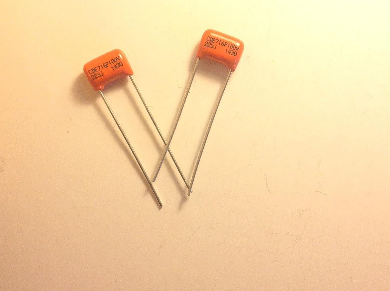2X .022uf  Orange Drop Tone Caps Capacitors 1 Pair