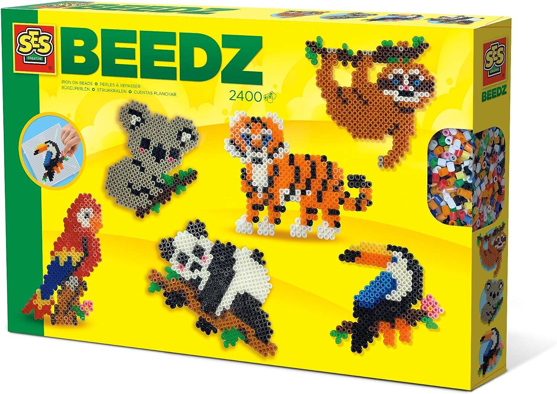 Cuentas para planchar con dise/ño de animales de la selva SES Creative 06303