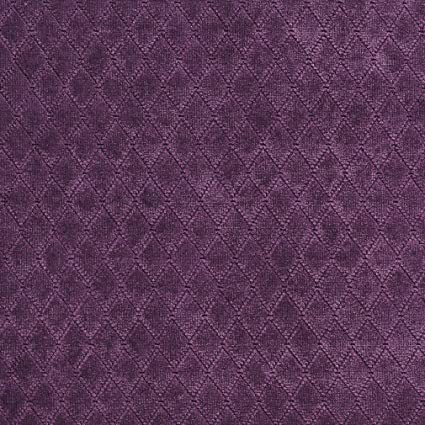 Amazon Com A918 Purple Diamond Stitched Velvet Upholstery Fabric By