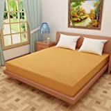 "Dream Care™ Waterproof Dustproof Terry Cotton Mattress Protector for Single Bed - 72""x48"", Golden"