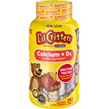 L'il Critters Kids Calcium Gummy Bears with Vitamin D3, 150ct