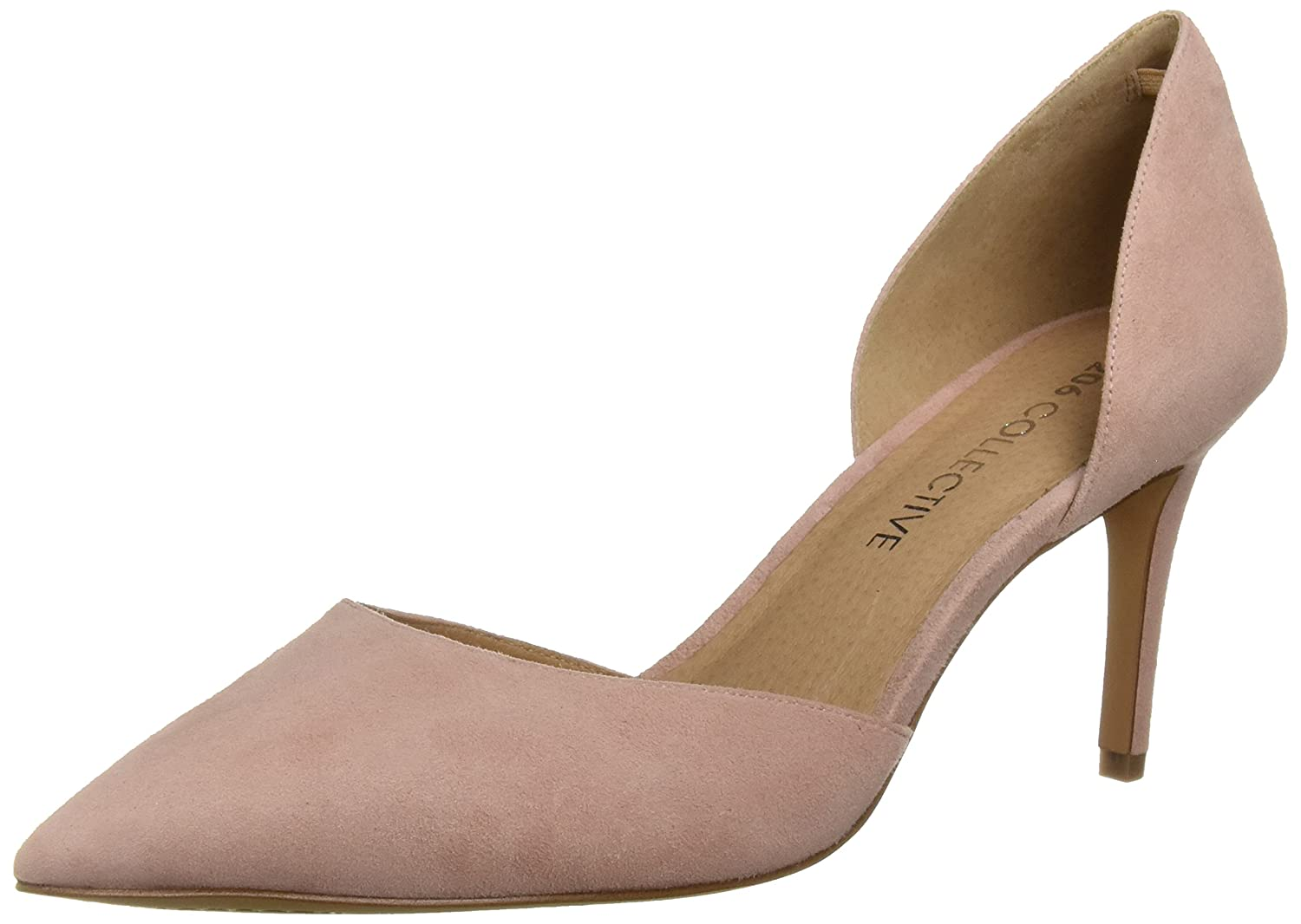 206 Collective Women's Adelaide D'Orsay Dress Pump B07895SMK7 11 B(M) US|Rose Suede