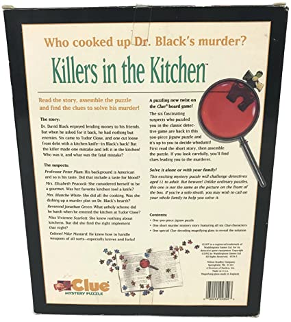 1dbd1a60 Buy Clue Mystery Puzzle: Killers in the Kitchen; 500 Pcs Jigsaw Puzzle  Online at Low Prices in India - Amazon.in