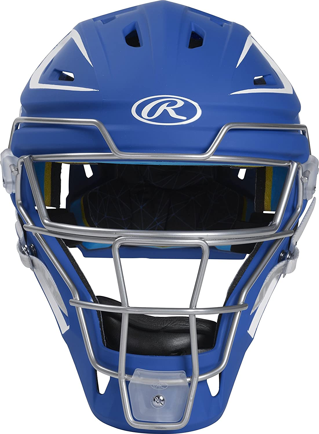 Rawlings CHMACH-R7/W7-SR 2-Tone Matte Catcher's Helmet, Royal/White Rawlings Sporting Goods