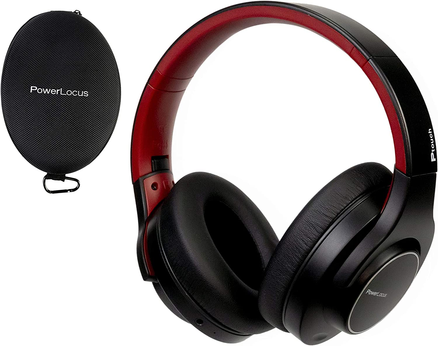PowerLocus Bluetooth Headphones Over Ear Wireless Headphones, [30H Playtime, Touch Button, HD Stereo], Wired mode Soft earmuffs, Foldable Headphones