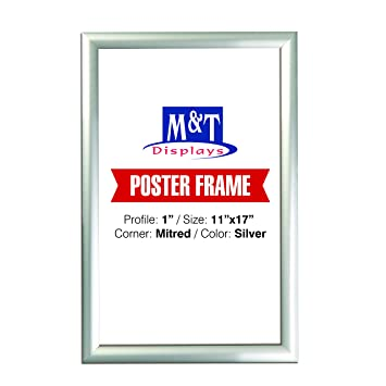 Amazon.com: Snap Frame 11 X 17 Inch, Poster Size 1 Inch, Silver ...