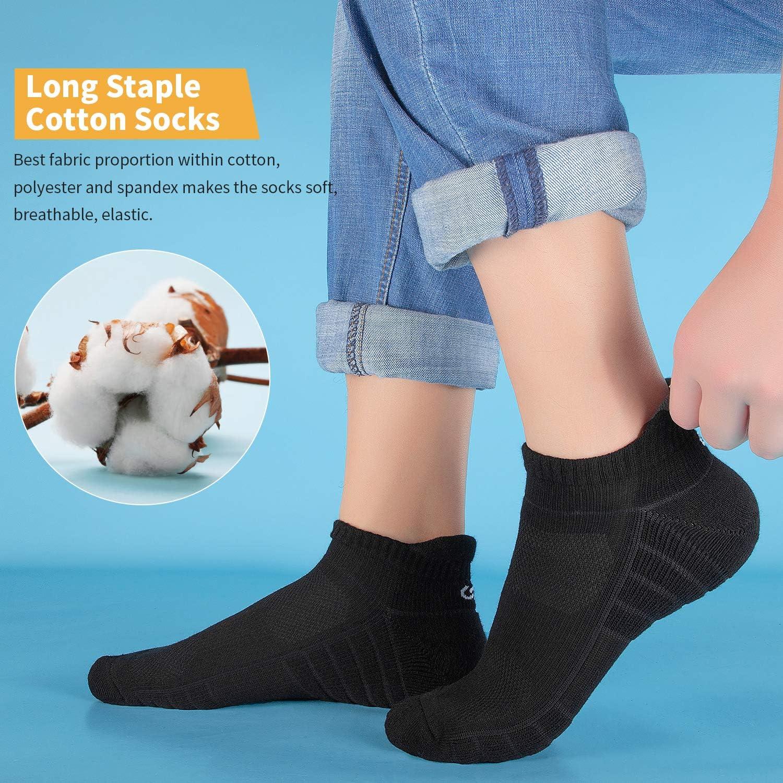 Benirap Running Socks Anti Blister Womens Socks Ladies Ankle Socks Work Socks Breathable Walking Socks for men 6 Pairs Trainer Socks