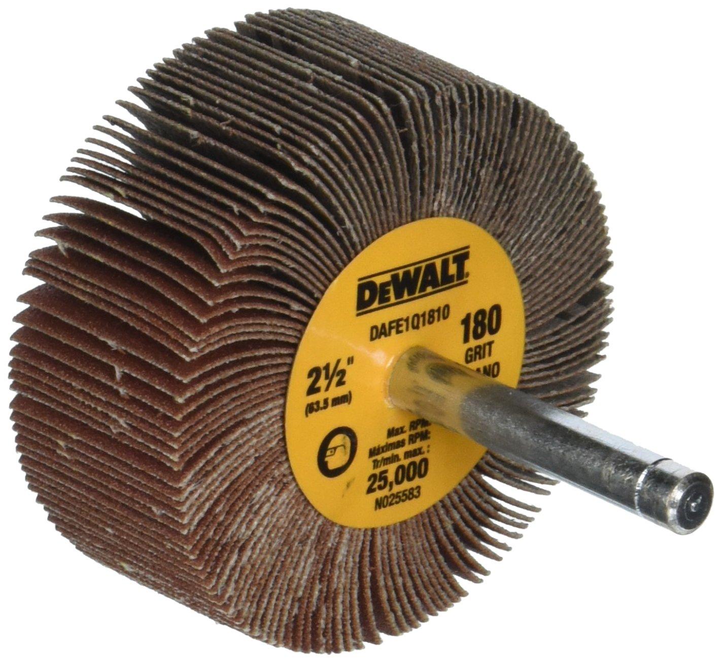 DEWALT DAFE1Q1810 2-1/2-Inch by 1-Inch by 1/4-Inch HP 180g Flap Wheel