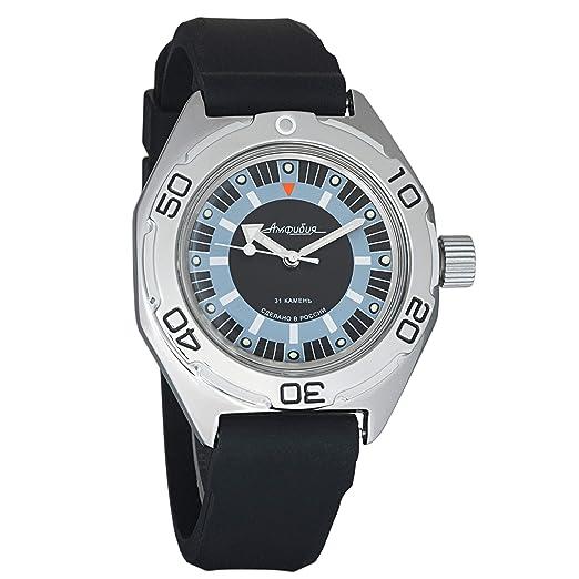 VOSTOK - Reloj de Pulsera para Hombre, mecánico, automático, 200 WR, Anfibio, Ruso: Amazon.es: Relojes