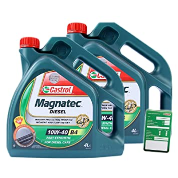 2 x 4 L=8 litros Castrol MAGNATEC Diesel 10 W-40 Aceite de ...