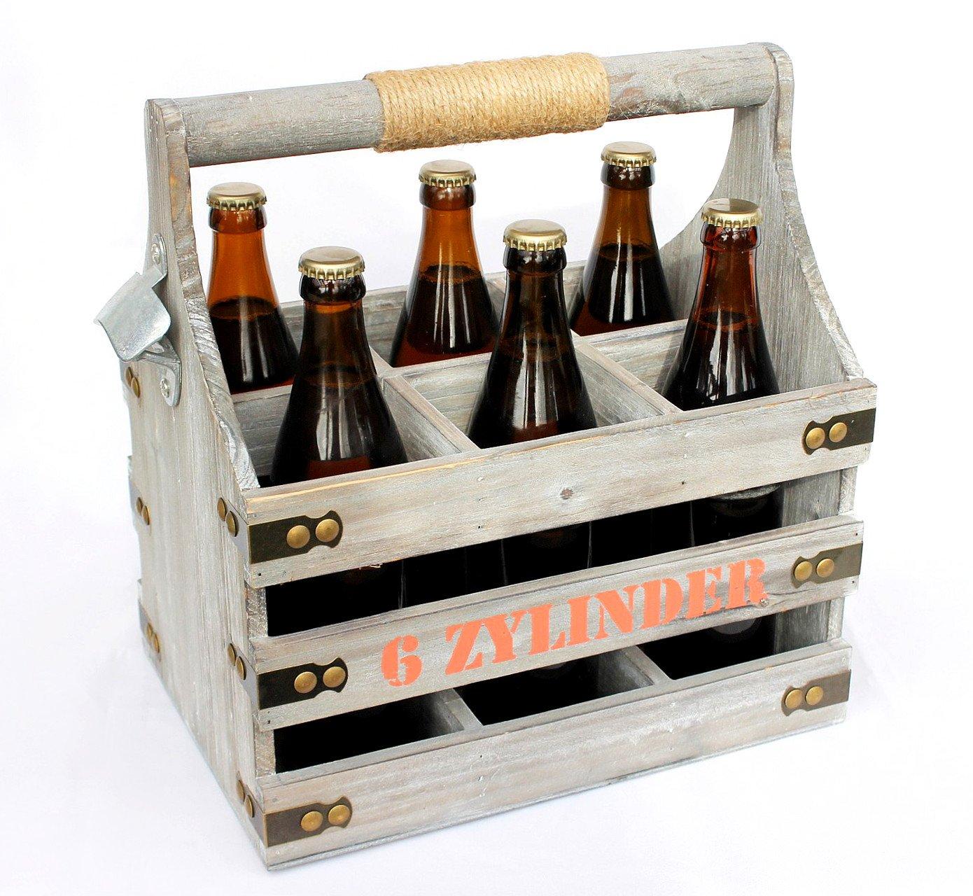 Flaschenträger für 0,33L Flaschenöffner Bierkasten Bier Träger Flaschenkorb