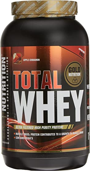 GoldNutrition Total Whey Proteína, Manzana-Canela - 1000 gr ...