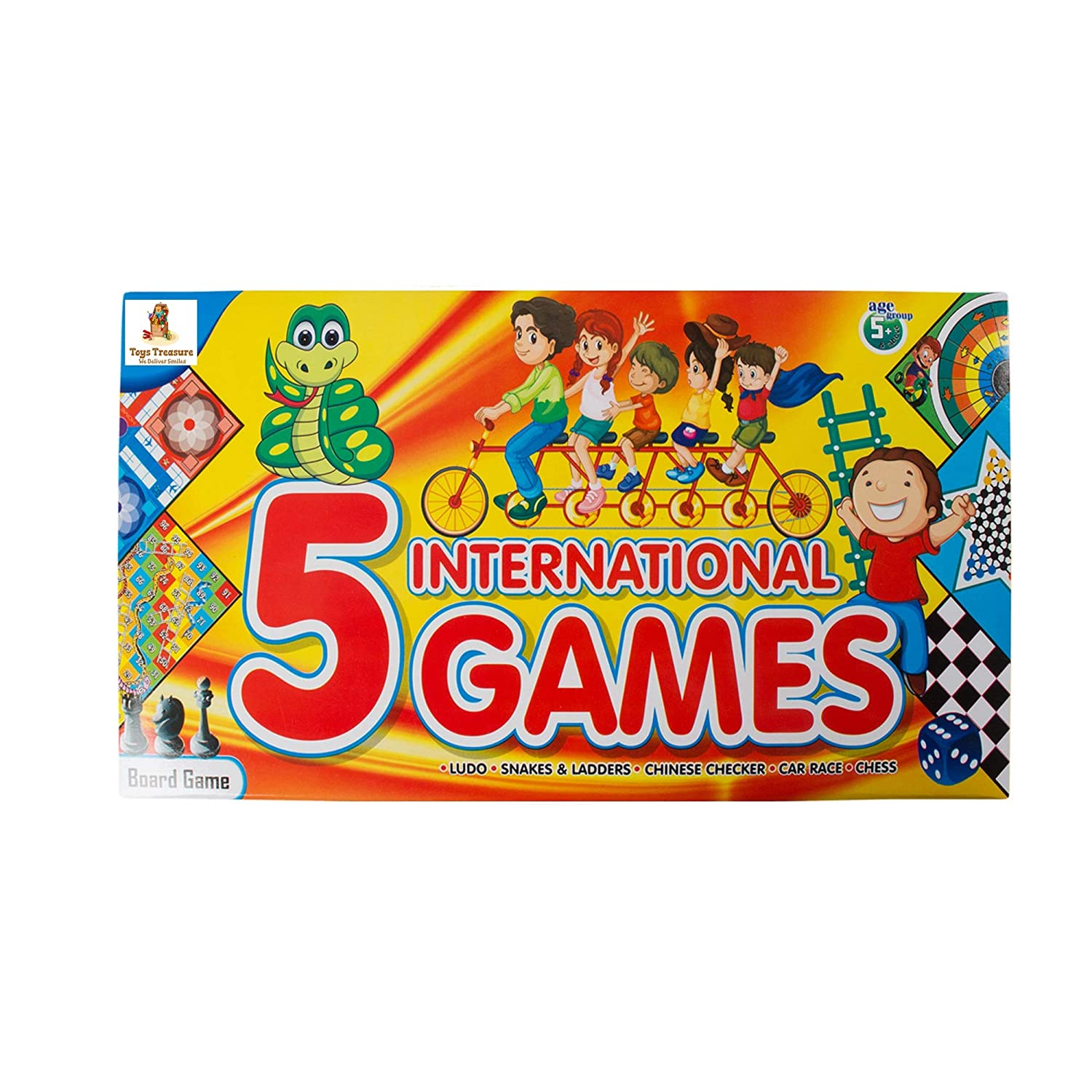 Toys Treasure 5 in 1 Board Game Set for Kids, Adults & Family