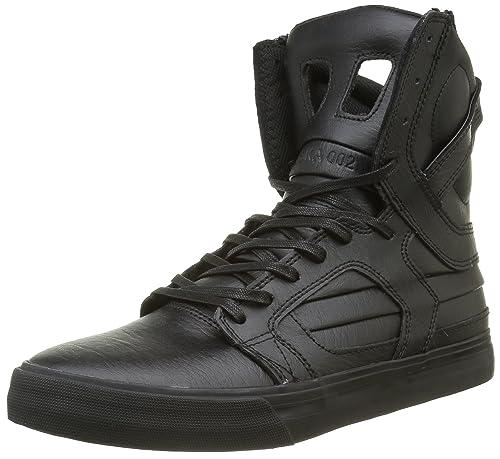 Supra - Zapatillas de Skateboarding de Otra Piel Hombre, Negro (Negro (Black/Black Red)), 41 EU: Amazon.es: Zapatos y complementos