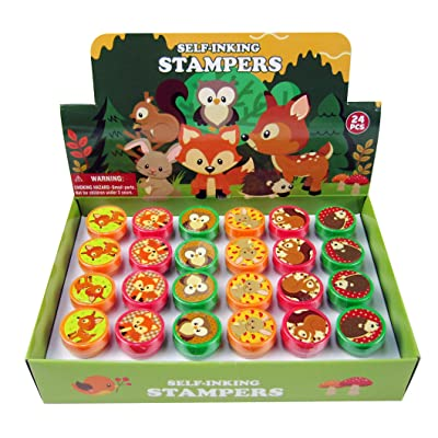 TINYMILLS 24 Pcs Woodland Animals Stampers for Kids: Toys & Games