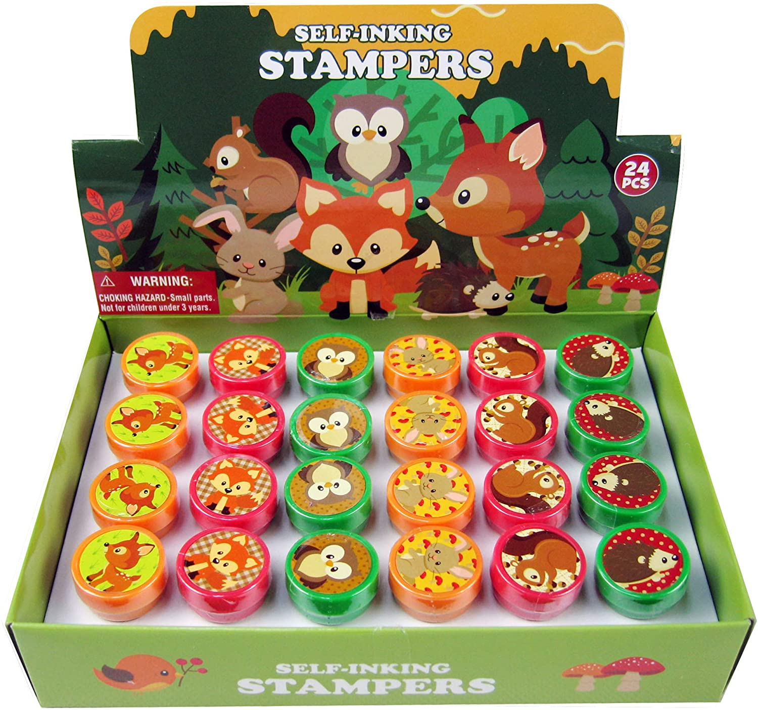 Tiny Mills 24 Pcs Woodland Animals Stampers for Kids