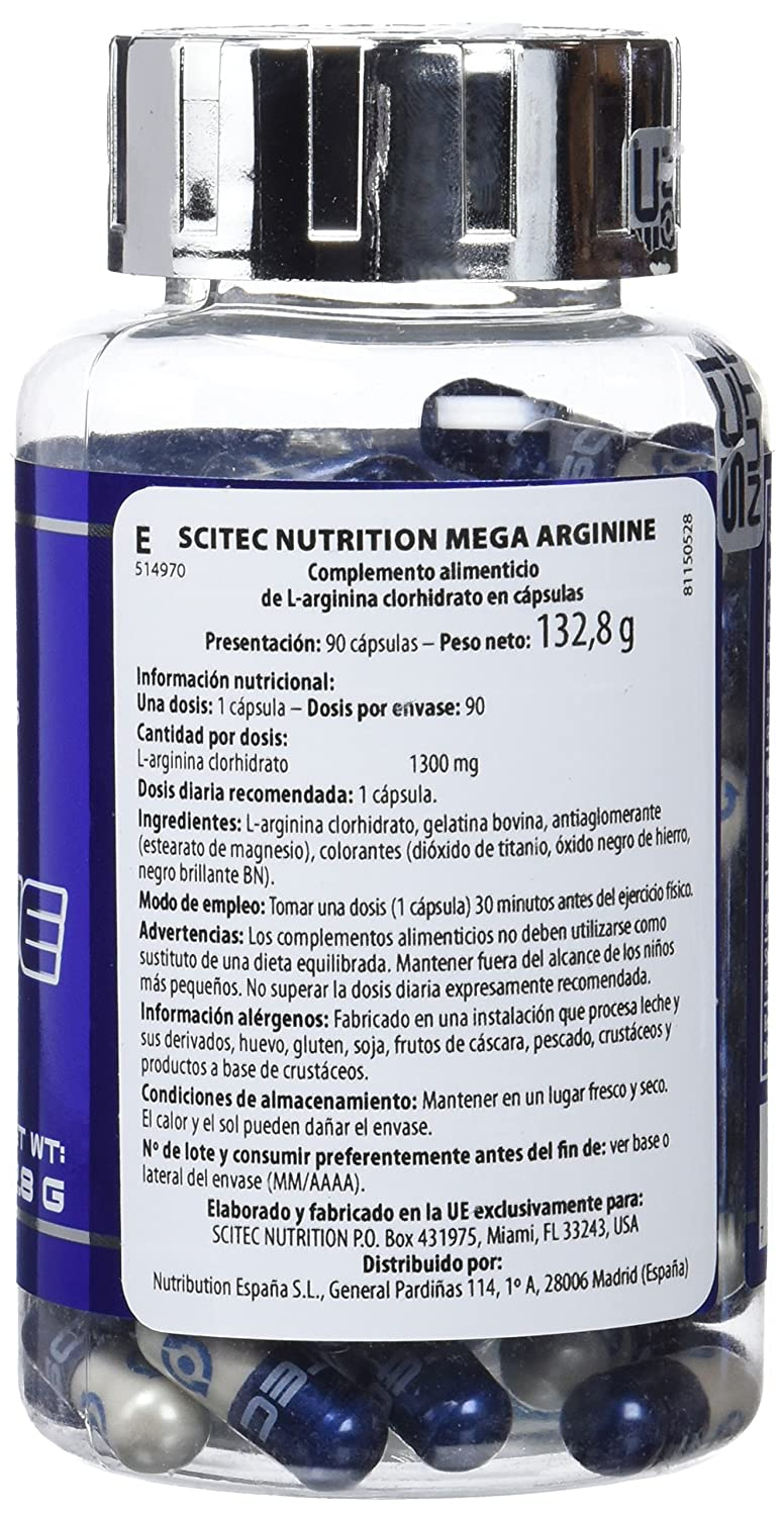 Amazon.com: Mega arginine - 90 capsules - Scitec nutrition: Health & Personal Care