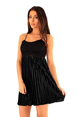 Ladies Evening Party Cocktail Dress Mini Short Skater Strappy Baby Doll Sexy (8)