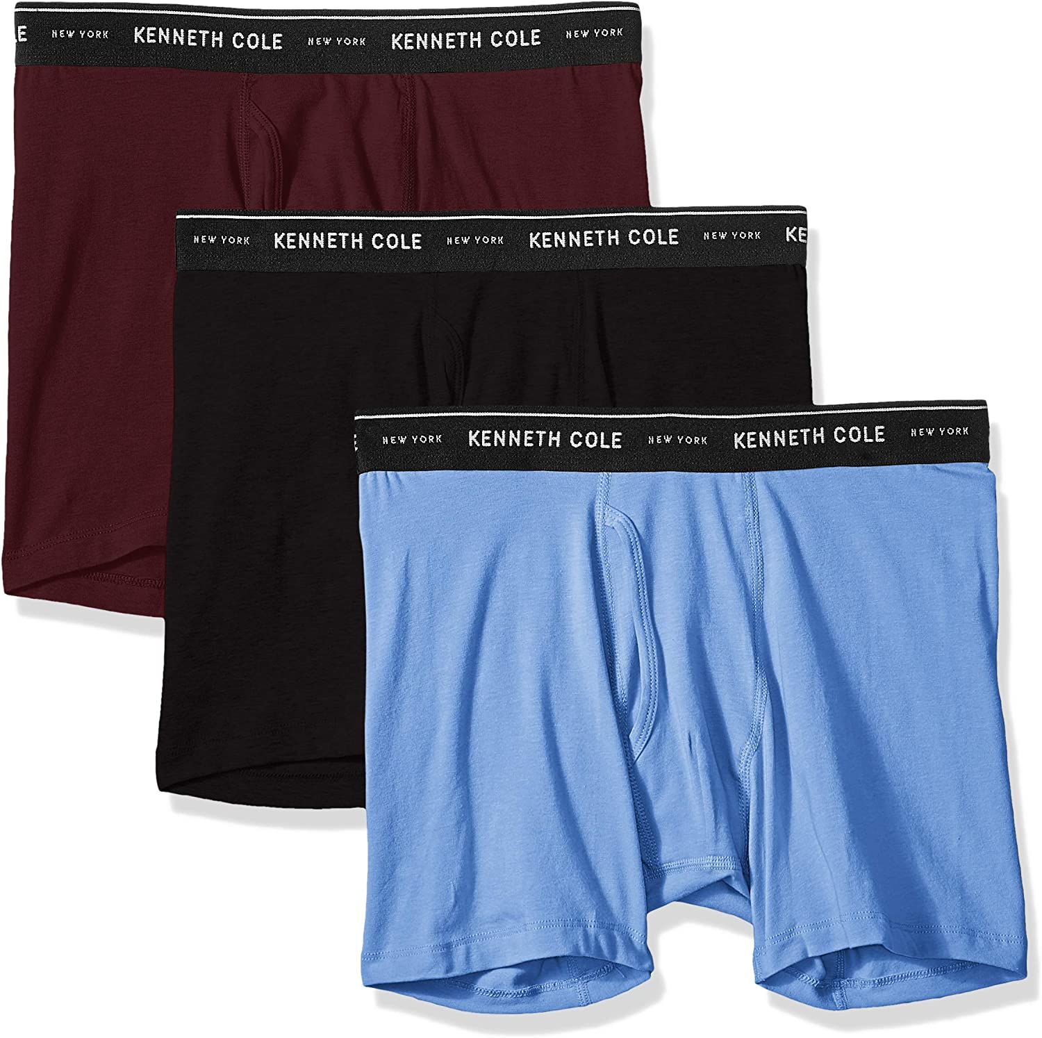 Kenneth Cole New York Men's Underwear Cotton Stretch Boxer Brief, Multipack & Single