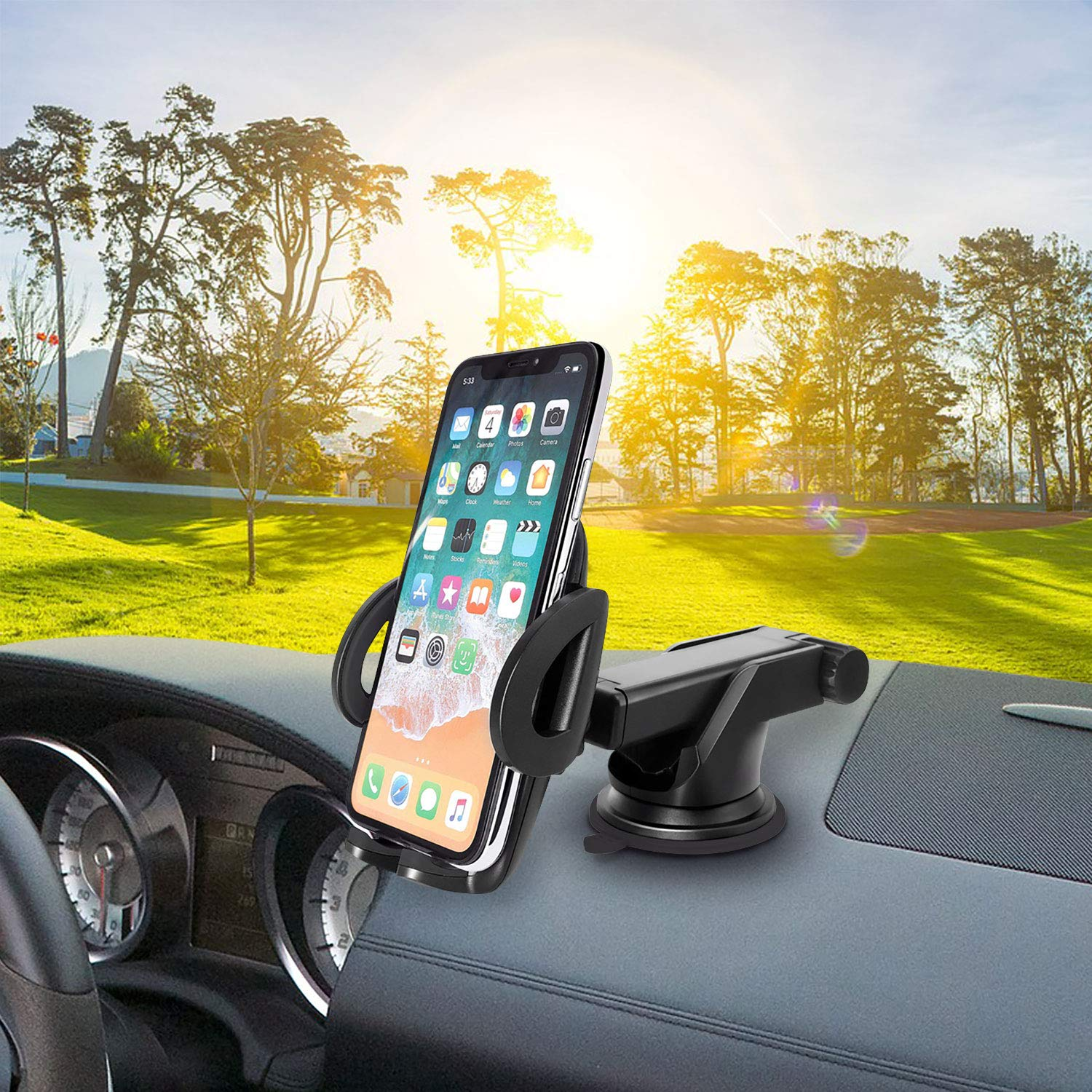 Cellet Car Phone Mount Extendable Windshield and Dashboard Holder Compatible for Apple iPhone XS//Max//Xr//X//SE//8//Plus//7//Plus//6S//Plus//6//Plus//5C//5 Lighting 4S//4//3GS//3G//iPhone and More