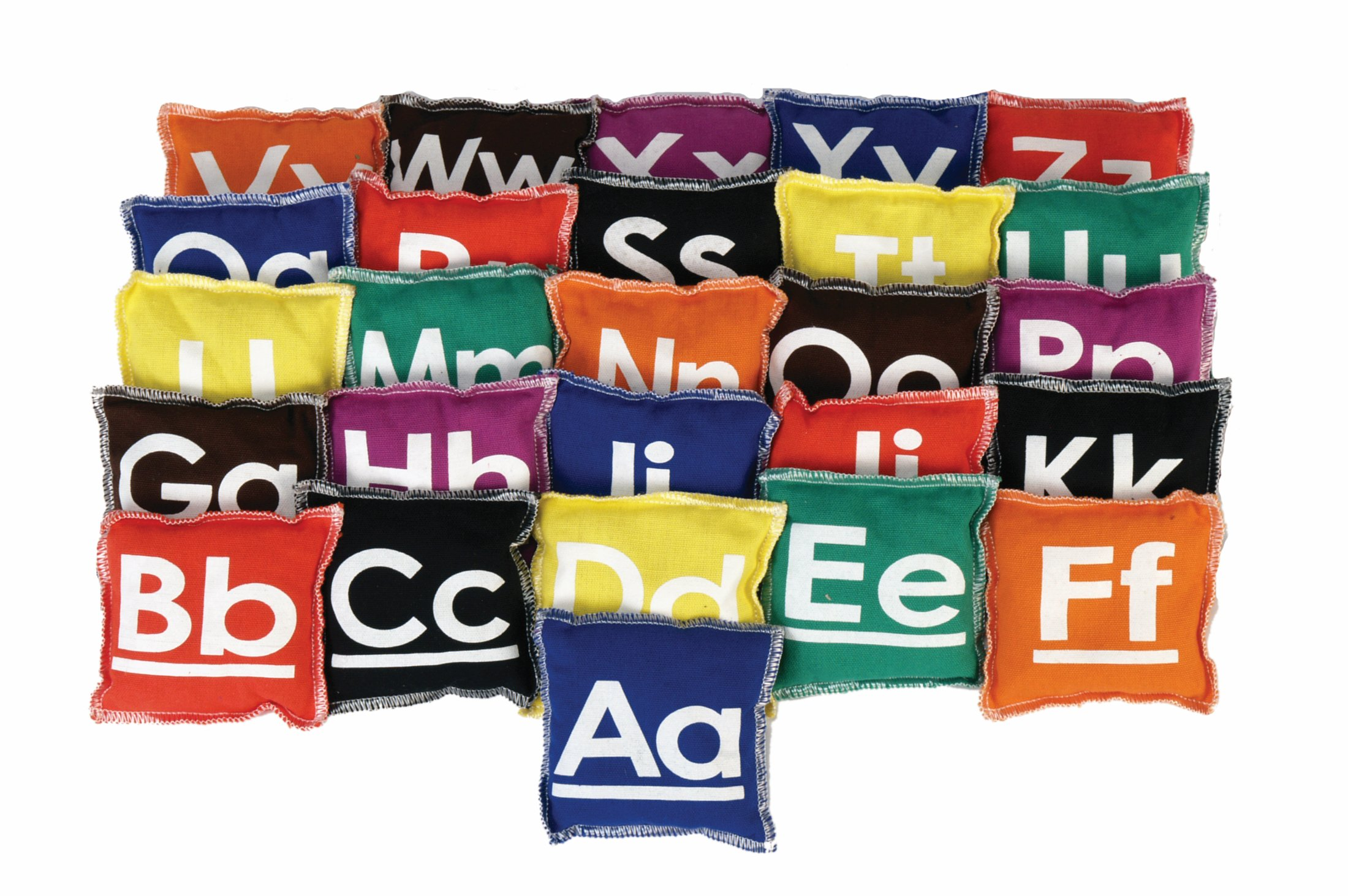 American Educational Products Alphabet Beanbags, 4 x 4'', Set of 26