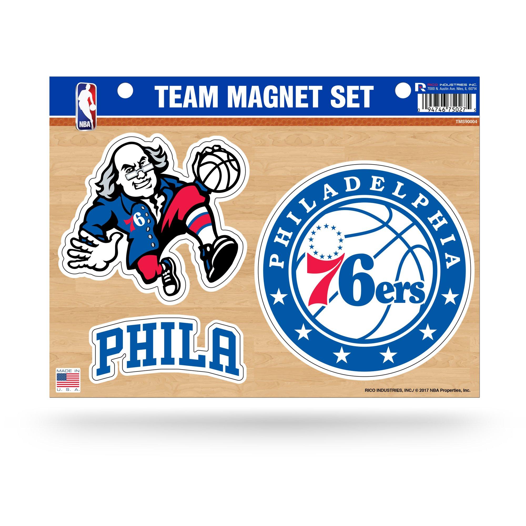 Rico NBA Philadelphia 76ers Die Cut Team Magnet Set Sheet