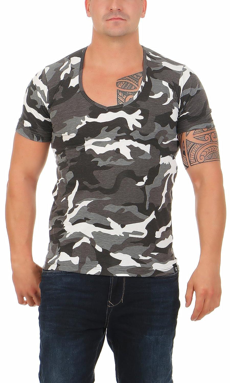 53f3233dd9362a Gennadi Hoppe Herren T-Shirt V-Ausschnitt Slim Fit Freizeit V-Neck Kurzarm  größeres Bild