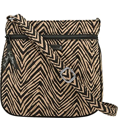 Vera Bradley Women s Petite Double Zip Hipster Zebra One Size ... 9e3c52d1a3e3b