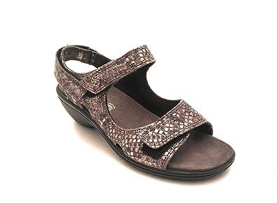 Damen Sandalen, Schwarz - Schwarz - Größe: 38 EU Enval soft