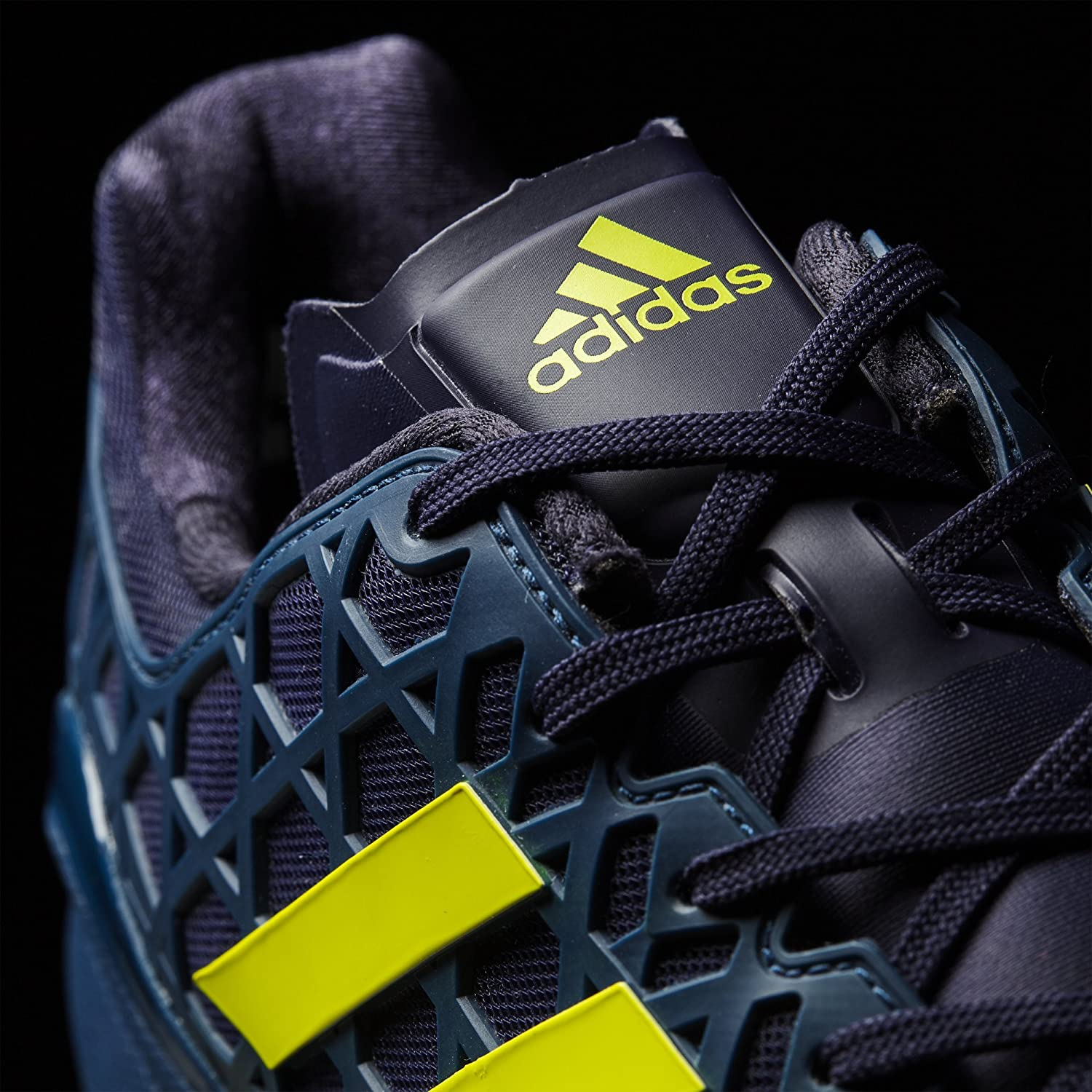 adidas adizero hockey blue/yellow hockey shoes 2017