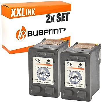 Bubprint 2 Cartuchos de Tinta Compatible con HP 56 Negro ...