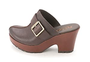 Korks by Kork-Ease Womens Mantha Leather Closed Toe Mules, Brown, Size 11.0
