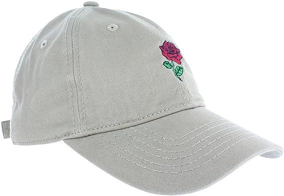 406761738 Amazon.com: Dad Hat Cap - Rose Flower Emoji Embroidered Adjustable ...