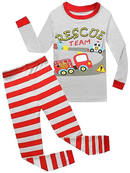77a35a4ad4773 Kids Pajamas Hop Rescue Team Boys Cotton Pajamas Children Clothes Set  Toddlers Sleepwear (Grey