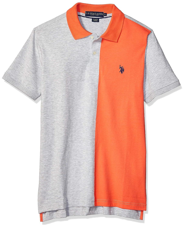 Polo Assn Mens Color Block Solid Jersey Polo Shirt U.S