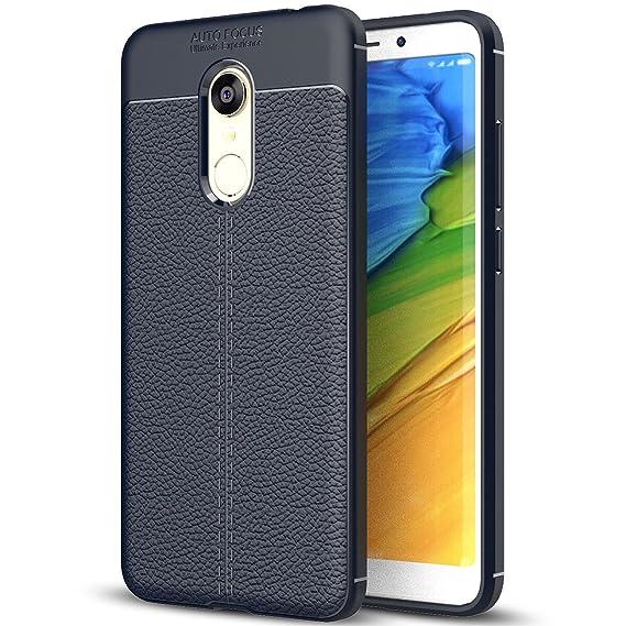 cheap for discount c5253 304a0 Xiaomi Redmi 5 Plus Case, Redmi 5 Plus Faux Leather Case, Soft Case  Anti-Slip TPU Cover for 5.99'' Xiaomi Redmi 5 Plus