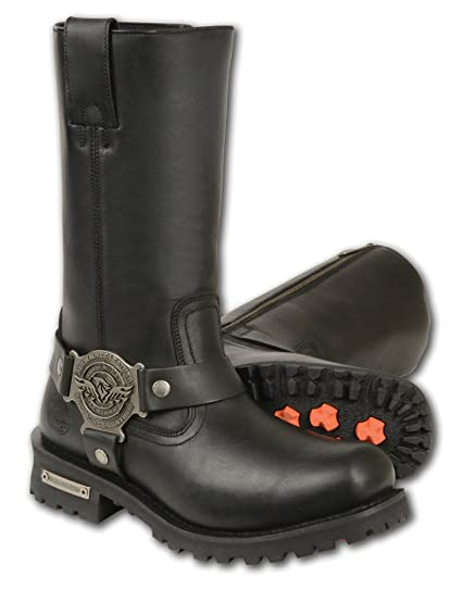 036743cb538c Amazon.com  Milwaukee Leather Men s Wide Classic Motorcycle Harness Boots  (Black