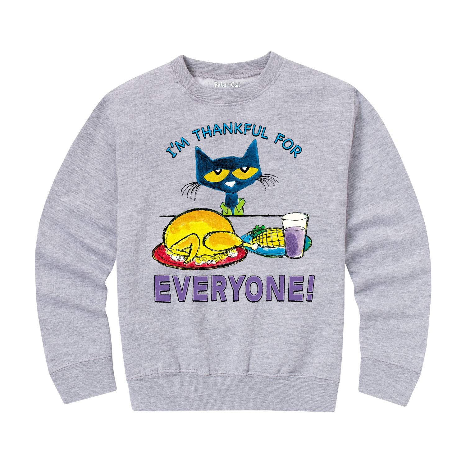Toddler Crew Fleece Pete the Cat Im Thankful for Everyone!