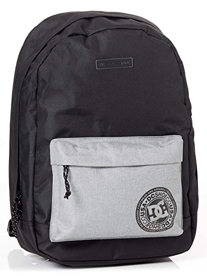 DC Shoes Backstack, Mochila Mediana para Hombre, Negro (Black/Grey),