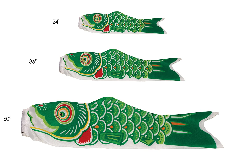 Amazon.com : In the Breeze Koi Fish Windsock, 36-Inch, Green : Wind ...