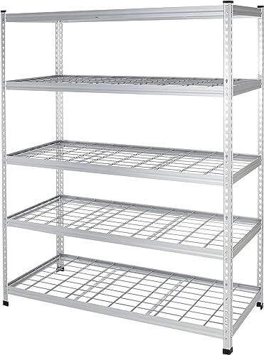 AmazonBasics Heavy Duty Storage Shelving Unit Double Post, Aluminum