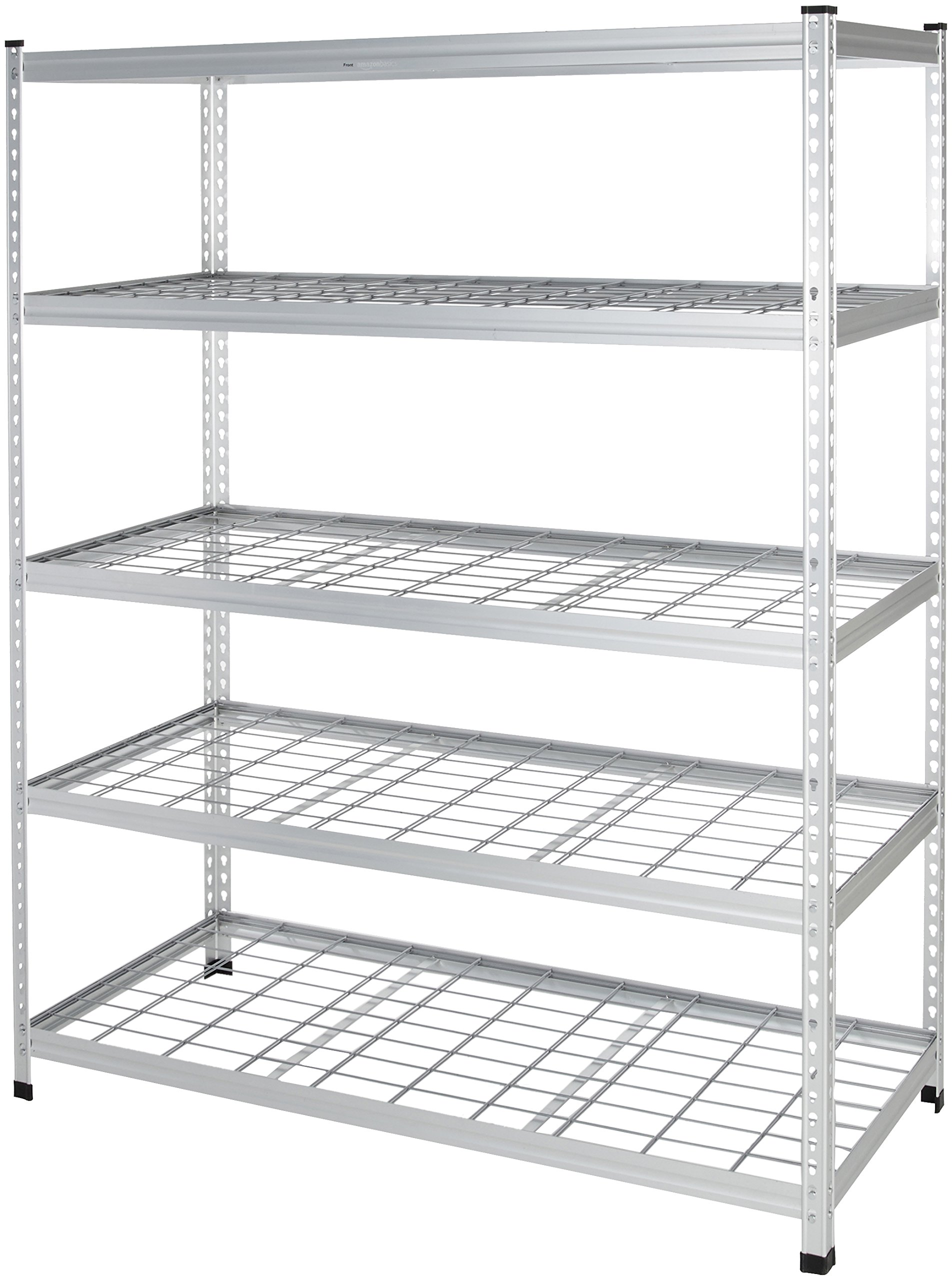 AmazonBasics Heavy Duty Storage Shelving Double Post Steel Wire Shelf, 60 x 24 x 78 Inch, Aluminum by AmazonBasics