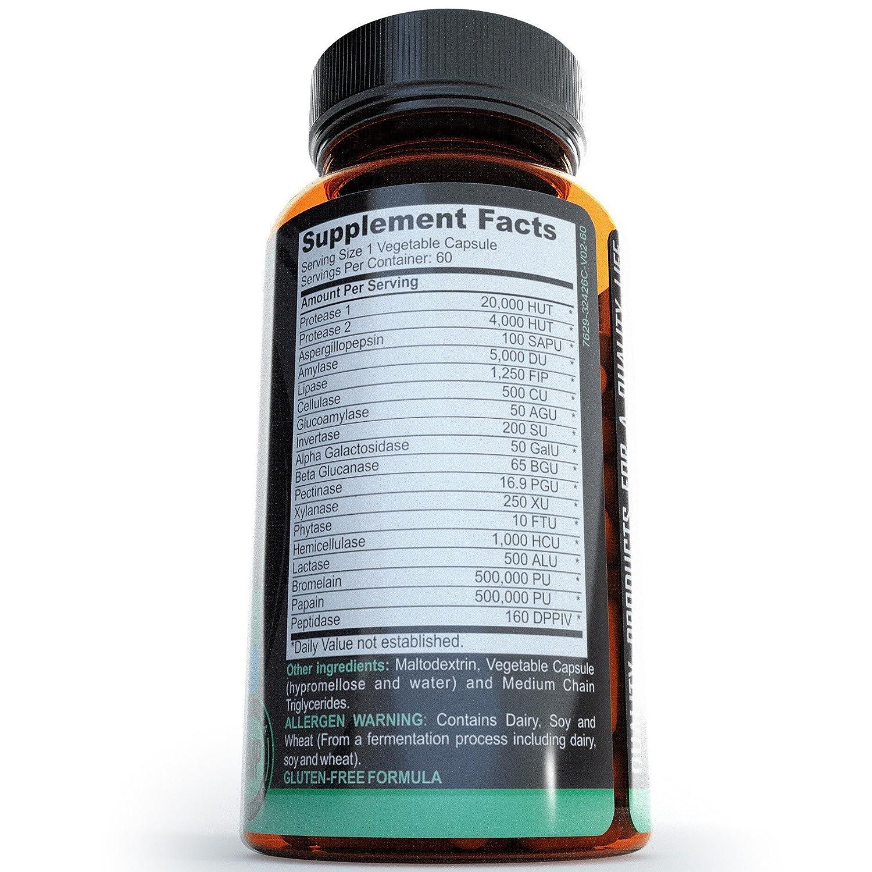 Amazon.com: Las enzimas digestivas – con amylase Bromelain ...