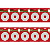 Scotch Brand 112L Permanent Mounting Tape, 1 Inch x 125 Inches, White, 10 Pack