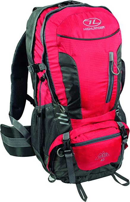 Highlander Hiker Mochila, Unisex Adulto, Rojo, 40 l: Amazon.es ...