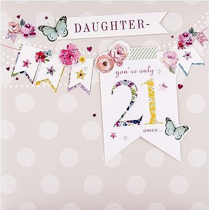 Tarjeta de cumplea/ños para hija Piccadilly Greetings 10 x 7 pulgadas