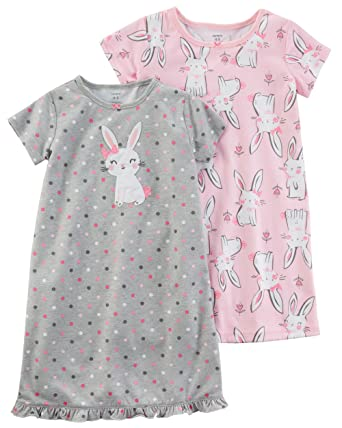 3cd3b9184359 Amazon.com  Carter s Girls  2 Pk Gown Poly 373g076  Clothing