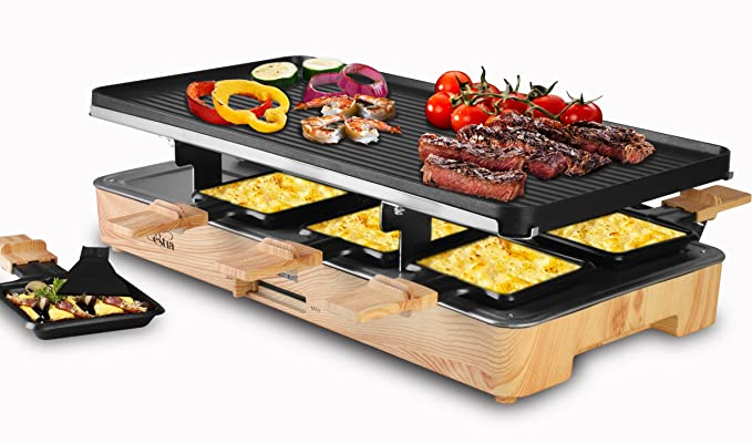 Artestia Electric Raclette Grill – The Raclette Grill with A Control Light Indicator