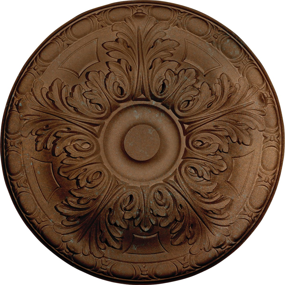 Ekena Millwork CM16GACGS 15 3/4'' OD X 5/8'' P Granada Ceiling Medallion fits Canopies up to 4 1/4'', Copper Green Patina