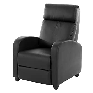 Fernsehsessel Relaxsessel Liege Sessel Denver Kunstleder Schwarz